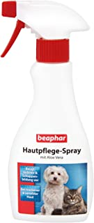 beaphar Hautpflege Spray für Hunde und Katzen | Gegen trockene und schuppige Haut | Beugt Juckreiz vor | Mit Aloe Vera & Nachtkerzenöl | 250 ml Sprühflasche