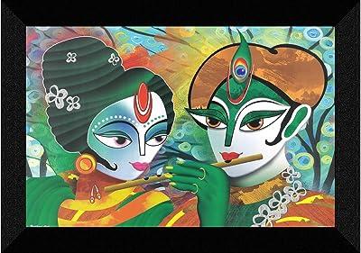 SAF Radhe Krishna modern art UV Textured Synthetic Frame Painting SAFK169
