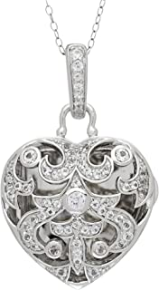 With You Lockets-Sterling Silver-Custom Photo Heart Locket Necklace-That Holds Pictures for Women-The Deirdre