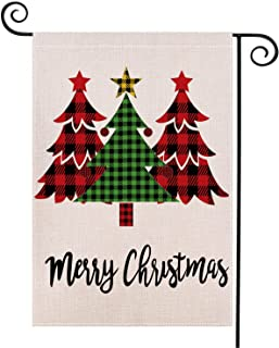 Merry Christmas House Flag Red Truck Double Sided, Christmas Tree Garden Flag Christmas Decor Outdoor Flag, Winter Holiday...
