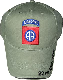 U.S. Army 82nd Airborne Baseball Cap. OD Green, Adjustable