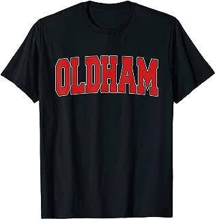 OLDHAM UNITED KINGDOM Varsity Style Vintage Retro UK Sports T-Shirt