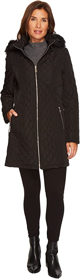 Ivanka Trump - Quilted Waist Seaming Detail w/ Faux Fur