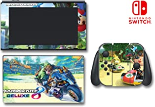 Mario Kart 8 Deluxe Animal Crossing Video Game Vinyl Decal Skin Sticker Cover for Nintendo Switch Console System