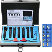 Accusize Industrial Tools 7 Pieces/Set 1/2'' Indexable Carbide Turning Tool Set..