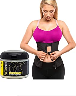 Body Maxx Waist Trainer Slimming Body Shaper & Fat Burning Cream Kit for Weight Loss (Plus-Size Waist Trainer Available)
