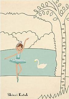 シール堂 Shinzi Katoh ノート バレエ 白鳥の湖 A5 3冊 ks-nb-20012