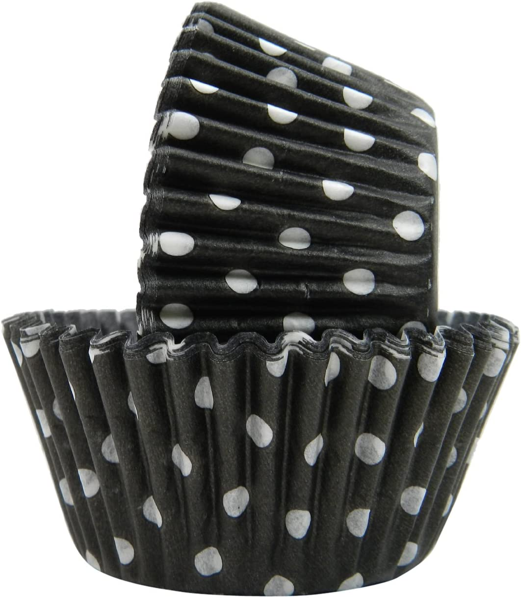 Regency Wraps Greaseproof Baking Cups Black 40 Coun Polka Free shipping anywhere in the nation Dots Year-end gift