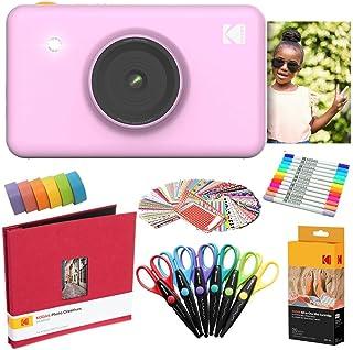 KODAK Mini Shot Cámara instantánea (Rosado) Paquete de Arte con Papel fotográfico (20 Hojas) y más