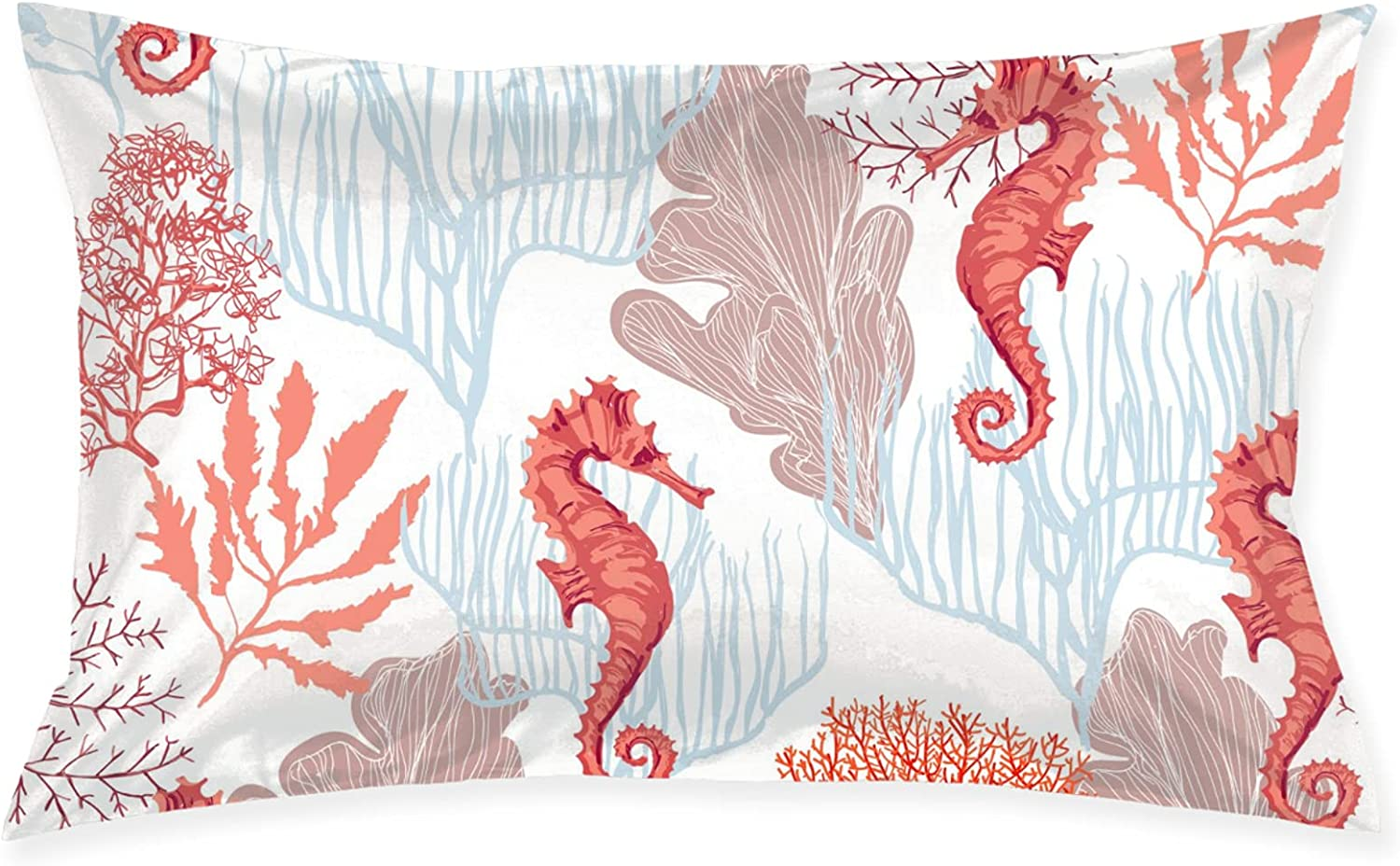 Raleigh Mall San Francisco Mall Red Corals and Sea Horses Sle Pillowcase Bed Pillows