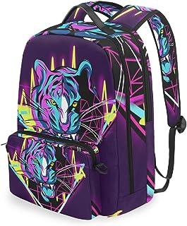 Mochila con bolsa cruzada desmontable, diseño de tigre, para viajes, senderismo, acampada