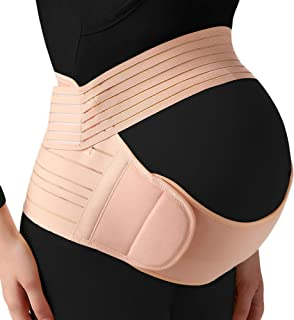 Pregnancy Belly Support Band, 3-in-1 Multifunctional Maternity Belt for Back & Waist & Pelvic Pain Relief and Postpartum R...