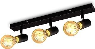 B.K.Licht Lámpara de techo antigua I lámpara de techo retro I 3-flame I E27 I estilo de casa de campo I foco de techo I giratorio I sin bombilla