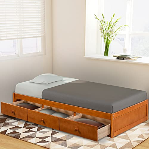 Twin Bed With Storage Underneath Amazoncom
