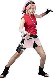 Japan Anime Cosplay Shippuden Haruno Sakura Costume mp000132