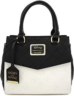 Loungefly Disney Minnie and Mickey Debossed Heads Cute Handbag