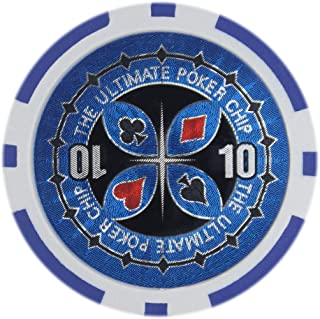 Brybelly The Ultimate Poker Chip Laser Inlay Heavyweight 14-Gram Clay Composite - Pack of 50