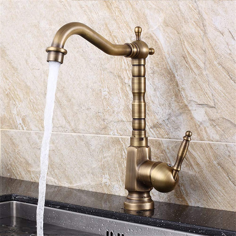 Guolaoer Antique Copper Faucet Kitchen Faucet???gold