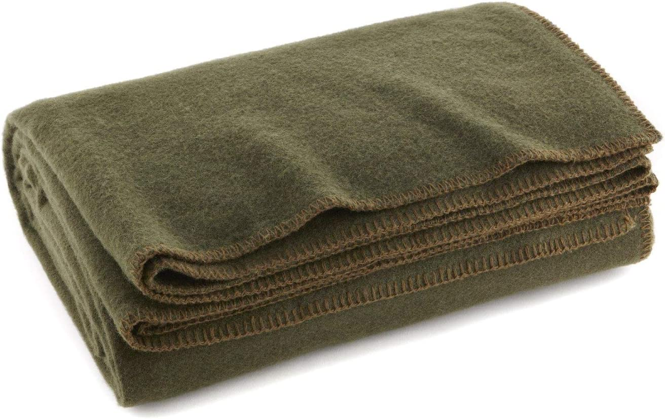 campfire New Military Army Rescue Style Heavy Wool Warm Blanket camping