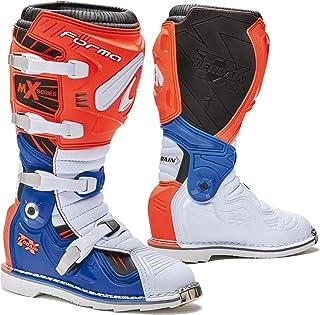 Forma - Botas de Moto Terrain TX homologadas CE, Color Naranja/Blanco/Azul