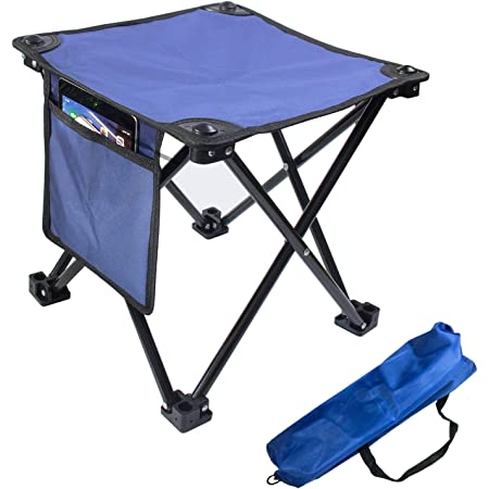 Rosilesi Folding Chairs Outdoor Lightweight Aluminium Alloy Folding Stool Compact Portable Fishing Camping Seats