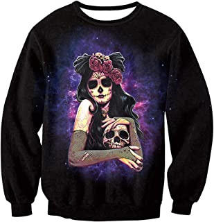 Womens 3D Printed Halloween Sweatshirts Novelty Graphic Jumper Cosplay Costumes