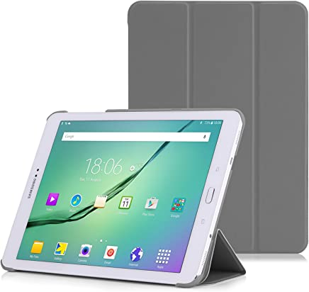 MoKo Tab S2 9.7 Case, Slim Lightweight Smart-Shell Stand Cover Case with Auto Wake/Sleep for Samsung Galaxy Tab S2 9.7/S2 Plus 9.7 LTE Android 6.0/7.0 2017 Version, Gray