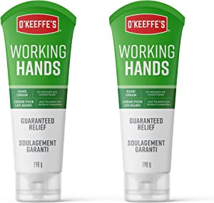 O'Keeffe's Working Hands Hand Cream for Extremely Dry, Cracked Hands, 7 Ounce Tube (Pack of 2), White