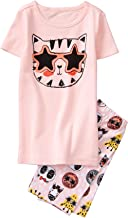 Gymboree Girls' 2-Piece Short Sleeve Tight Fit Pajama Set