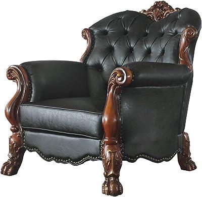 Acme Furniture Dresden Chair, Cherry Oak & PU