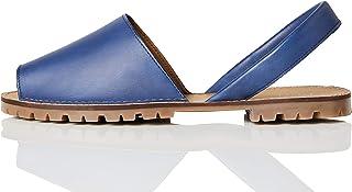Marchio Amazon - find. - Menorcan Leather, Sandali con Cinturino alla Caviglia Donna