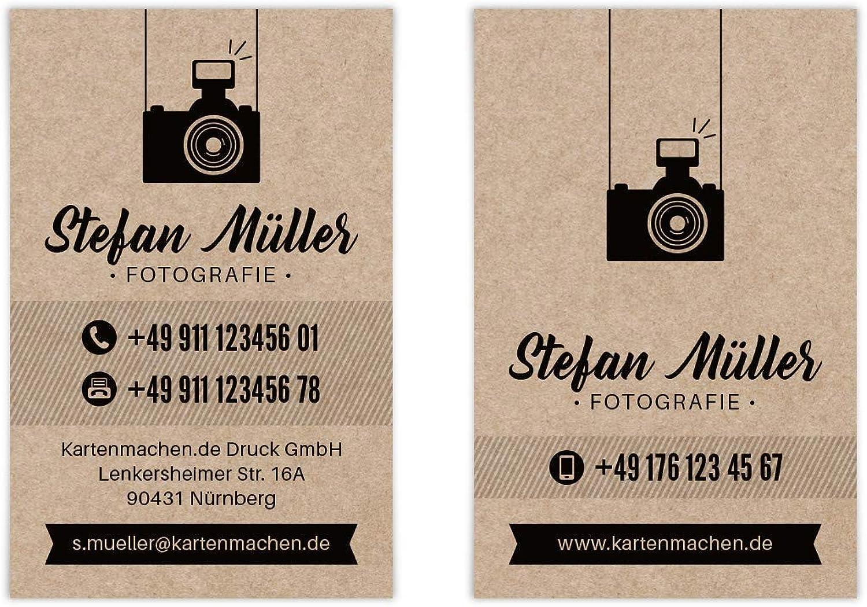 800 x Visitenkarten individuell mit Ihrem Inhalt 300g qm Papier 85 x 55 mm - Vintage Fotografie B07J2R5FL1 | Deutschland Shop