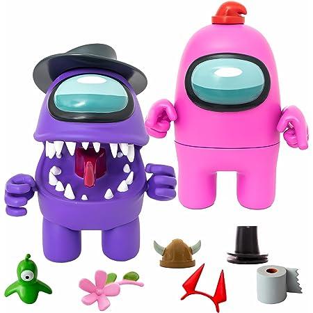 Bizak Among Us - Mega Figura pack 2 en Caja Morado + Rosa (64116550)