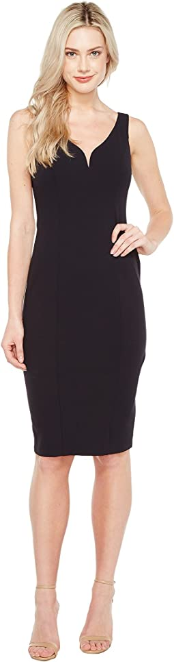 Sleeveless Stretch Crepe Bodycon Dress