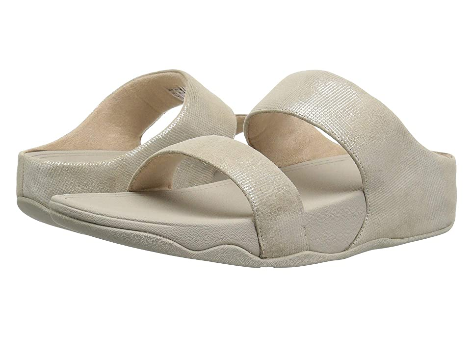 FitFlop Lulu Slide Sandals Shimmer-Check (Stone) Women