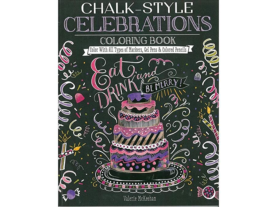 Design Originals CelebrationsClrgBk Chalk-Style Celebrations ColrngBk