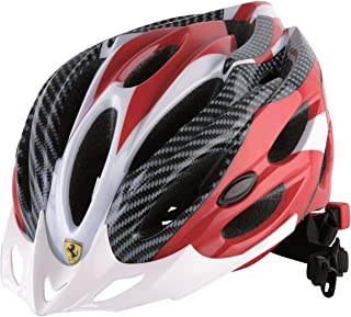 Ferrari Adult Sports Bicycle Cycling, Road/ Mountain Helmet, Protecting, Lightweight, White/Red.