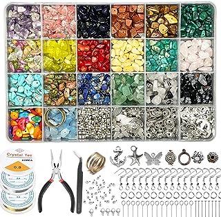 Xmada Jewelry Making Kit - 1587 PCS Beads for Jewelry Making, Jewelry Making Supplies with Crystal Beads, Jewelry Plier, B...