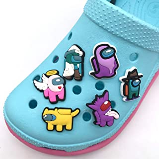 6pcs Among Us Crocs Charms Crewmates Button Charms for Shoes,Trendy game shoe charms, cute pins for crocs for Kids, Trendy...