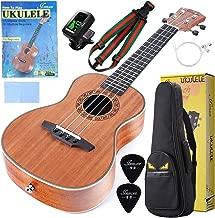Soprano Ukulele For Beginners 23 Inch Mahogany Ukulele Concert Ukulele For Kids with Gig Bag Tuner Strap String and Picks