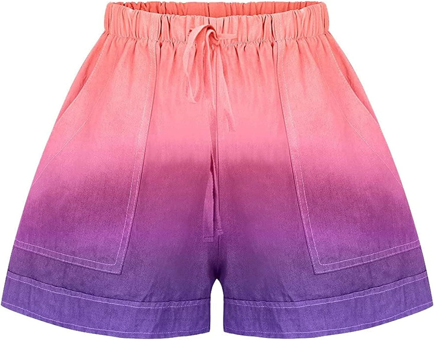 Elastic Waist Tie Dye Shorts for Women Lounge Summer Comfy Color Overseas parallel import low-pricing regular item