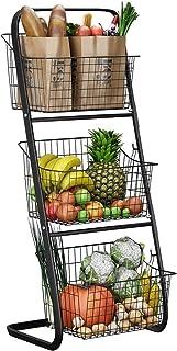 XWX Banque De Stockage De Stockage De Stockage De 3 Niveaux Légumes De Stockage De Fruit Produit De Stockage en Métal Susp...