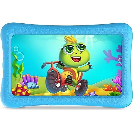 VANKYO Z1 Tablet per Bambini 7 Pollici 32GB ROM, Android 10 IPS HD Display WiFi Bluetooth Kidoz Preinstallato con Kid-Proof Custodia (Azzurro)