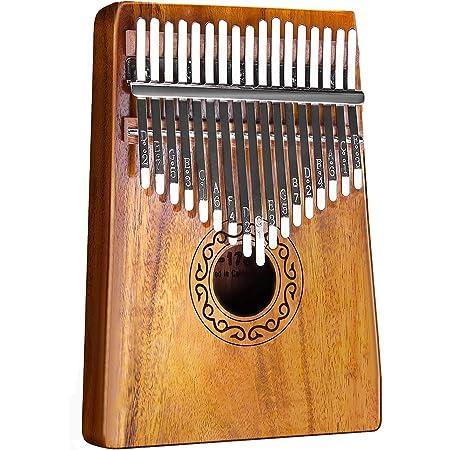 カリンバ17キー かりんば (親指ピアノ)楽器 クロス/指サック/キーステッカー/調整用ハンマー/日本語マニュアル&楽譜集付き