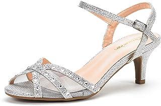 3ef745aed830 DREAM PAIRS Women's Nina Low Heel Pump Sandals