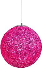 Huahan Haituo Nowoczesna czarna kratka wicker ratanowa globus kula styl sufit lampa wisząca abażur do domu jadalni dekorac...