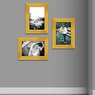 ArtzFolio Wall Photo Frame D436 Golden 4x6inch;Set of 3 PCS