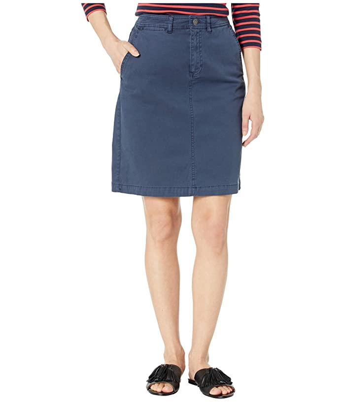 Chino Twill Skirt (Mood Indigo) Women's Skirt