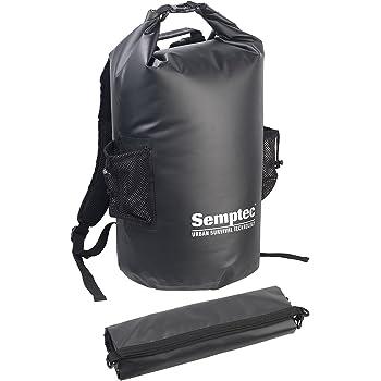 Semptec Urban Survival Technology Packsack: Wasserdichter Trekking-Rucksack aus LKW-Plane, 40 Liter, schwarz, IPX6 (Packsack wasserdicht)