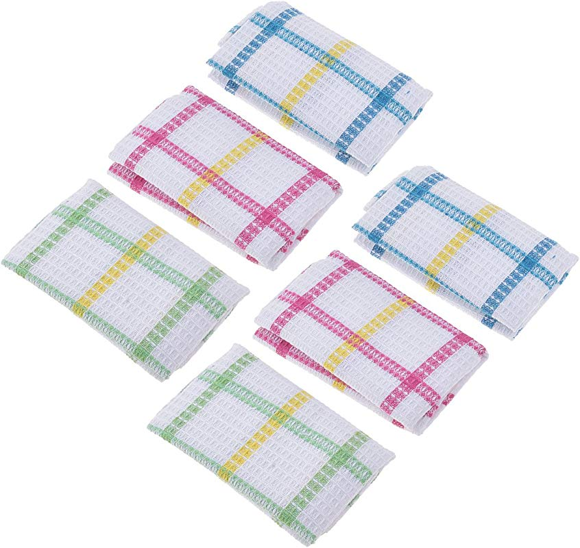 Kmise Eco Friendly Cotton Rag Cleaning Wiping Dish Cloths Dishwashing Towels Cloth For Kitchen 6 Pcs